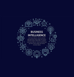 artificial intelligence circle template icons vector image