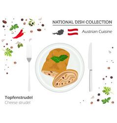 austrian cuisine european national dish vector image