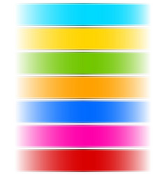 Banner backgrounds fading to transparent sideways vector