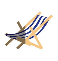 beach chair isolated icon vector image