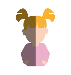 beauty baby girl face with hairstyle vector image