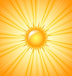 Big shining sun vector