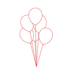 Birthday air balloon vector