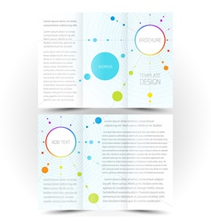 Brochure design template trifold leaflet colored vector