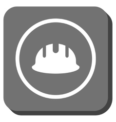 Builder Hardhat Rounded Square Icon vector image vector image