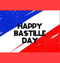 Card with lettering happy batille day vector