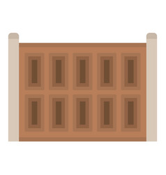 Concrete fence icon flat style vector