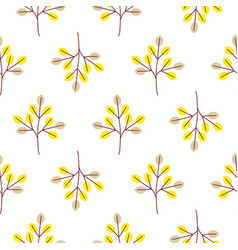 Cool trees simple forest seamless pattern vector