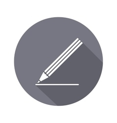 Drawing tools Pencil icon Education school vector image