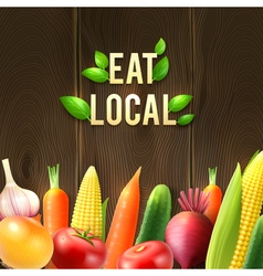 Eco Agricultural Vegetables Poster vector image