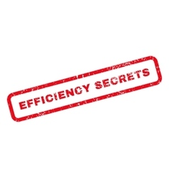 Efficiency Secrets Text Rubber Stamp vector