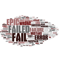 Fail word cloud concept vector