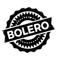 Famous dance style bolero stamp vector