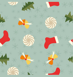 festive winter holidays seamless pattern vector image