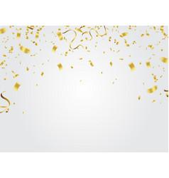 gold confetti celebration vector image