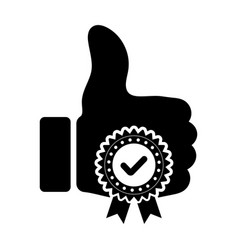 Good approval check icon for apps or websites vector