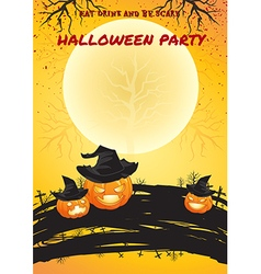 Halloween party poster bright color vector