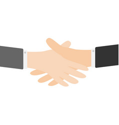 handshake icon two businessman hands arms vector image