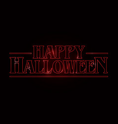 Happy halloween text design happy halloween word vector