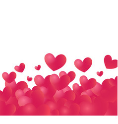 hearts backdrop with white copy space at top vector image