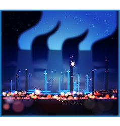 Industrial night lights vector image