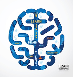 infographics brain colour design diagram vector image
