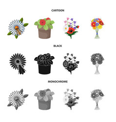 Isolated object spring and wreath symbol set vector