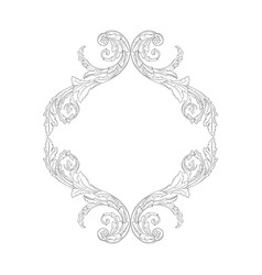 isolated ornament in baroque style vector image
