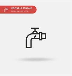 leak simple icon symbol vector image