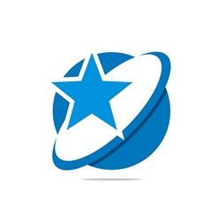 Logo All Star design beauty style vector