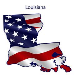 louisiana full american flag waving in wind vector image