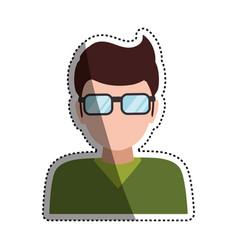 man faceless glasses avatar vector image