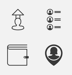 Management icons set collection of job applicants vector