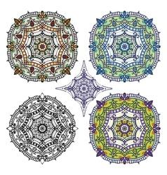 mandalas pattern set vector image