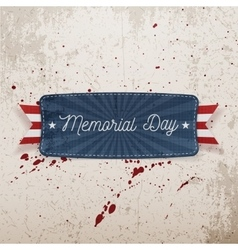 Memorial Day festive Banner with Text vector image