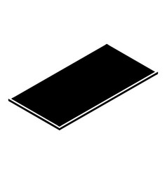 metal panel icon simple style vector image