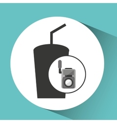 Movie video camera soda icon vector
