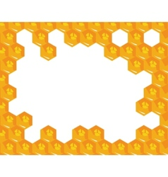 orange background about honeycombs vector image