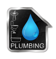 plumbing and running water at home vector image