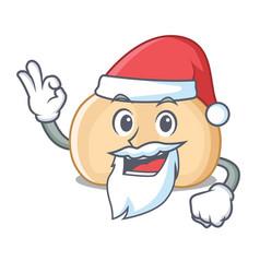 Santa chickpeas mascot cartoon style vector