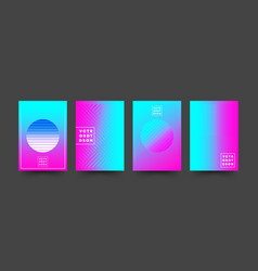 Set gradient cover templates design for flyer vector