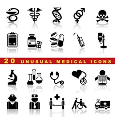 set medical icons vector image