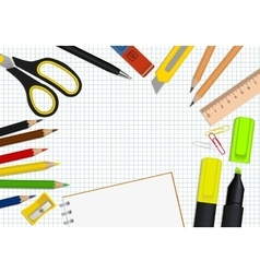 Set office supplies vector