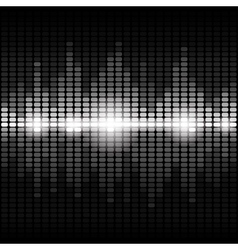 Shining silver digital equalizer background vector image