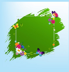 spring banner with flower vector image