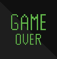 Text game over vector image