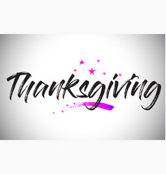 Thanksgiving handwritten word font with vibrant vector