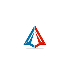 triangle arrow up colored logo vector image