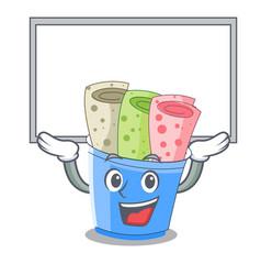 up board rolled ice creams in cartoon cups vector image