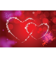 Valentine background with decorative hearts vector image